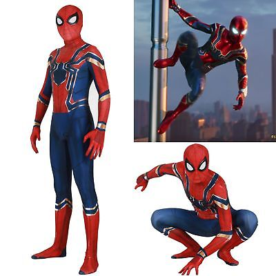 US! Adults Kids PS4 Spider-Man 3D Print Removable Mask Cosplay Costume - Spider Man 3 Costume