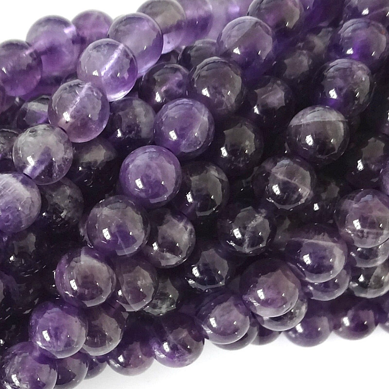 Natural Amethyst Round Gemstone 4mm 6mm 8mm 10mm Loose Beads