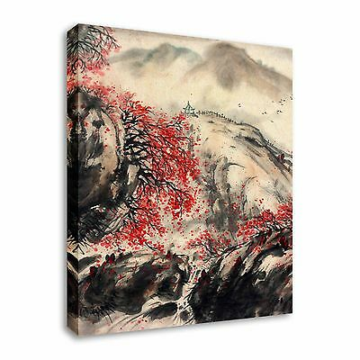Cherry Blossom Canvas Wall Art japanese / chinese painting sepia cherry blossom canvas wall art