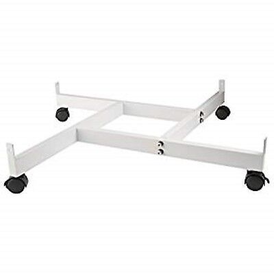 Only Hangers 4-way Gridwall Panel Base With Casters- White