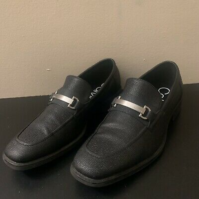 Calvin Klein Eaton Men's Slip-On Soft Leather Dress Shoe Loafers Size 9