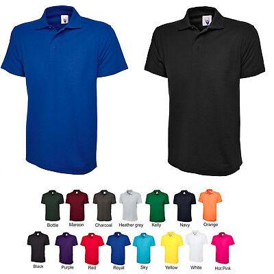 Mens Classic Polo T Shirt 220gsm Cotton & Polyester Shirts PLAIN & NO LOGOS 101 ()