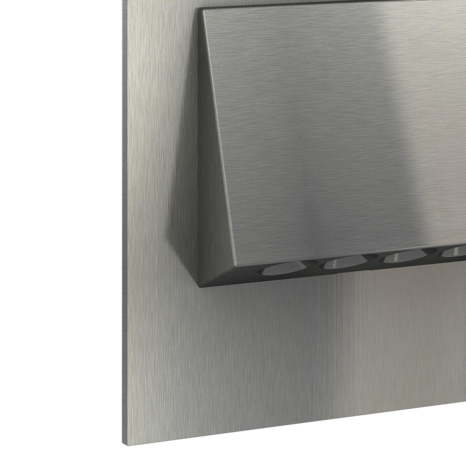 led wandleuchte edelstahl 230v einbau stufen treppen beleuchtung 1 30x teramo eur 36 96. Black Bedroom Furniture Sets. Home Design Ideas