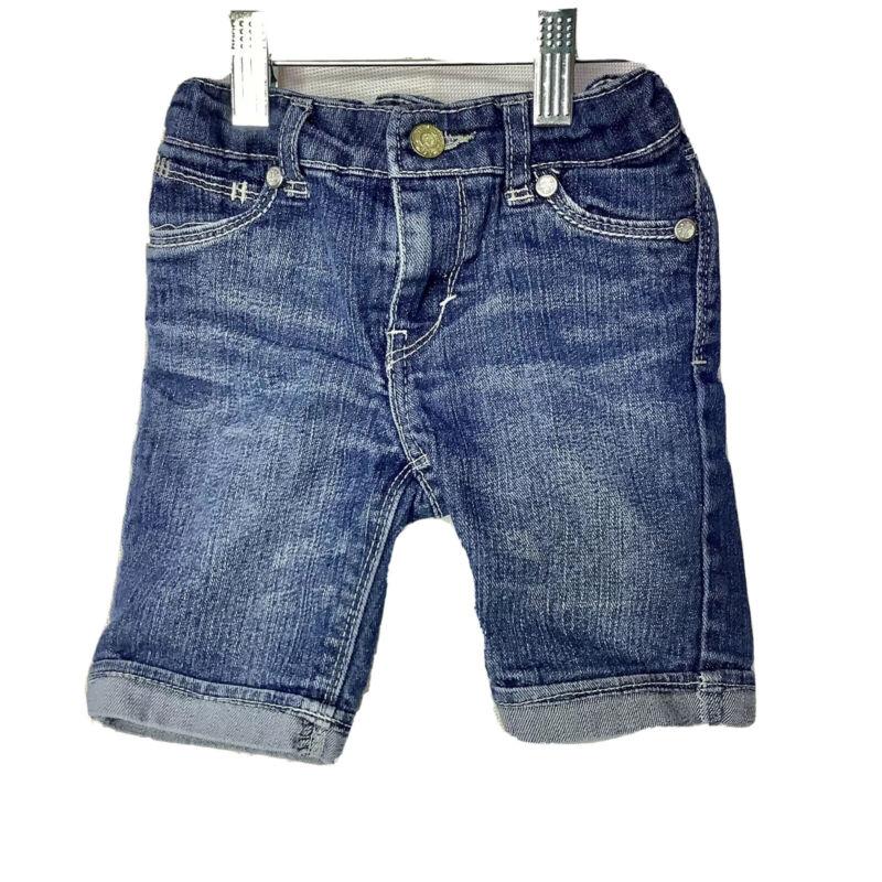 LEVIS Little Girls Flap Pocket BlIng Button Flap Pocket Bermuda Shorts Size 3T