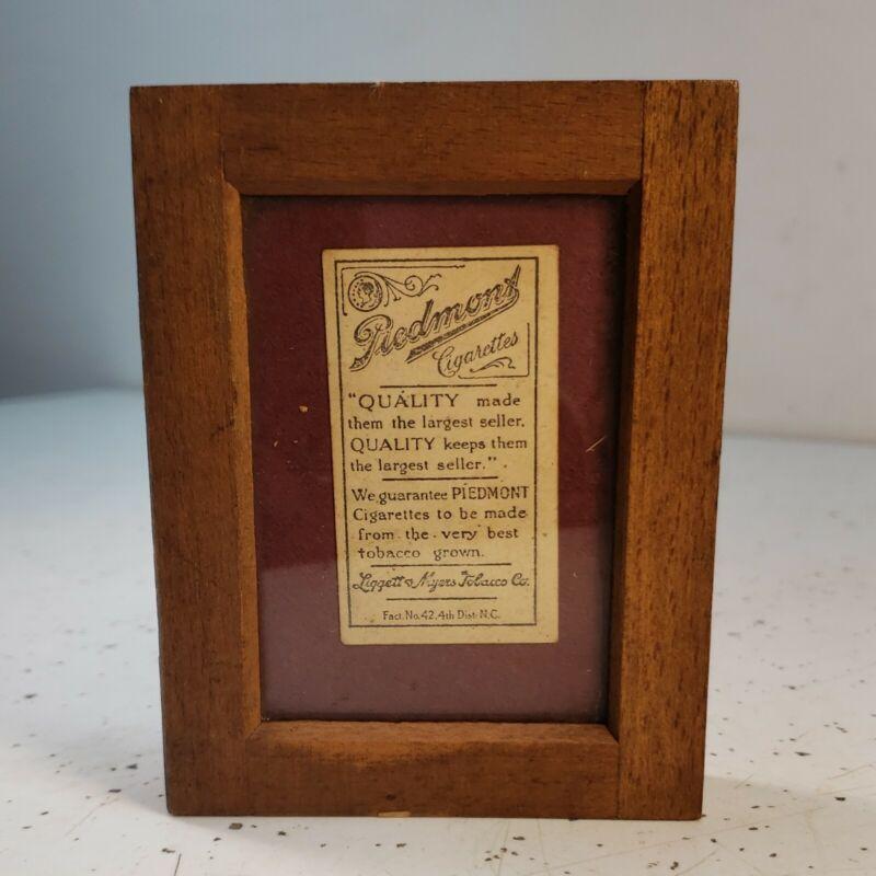 Vintage Early 1900s Piedmont Cigarettes Label Tobacco Advertisement Memorabilia