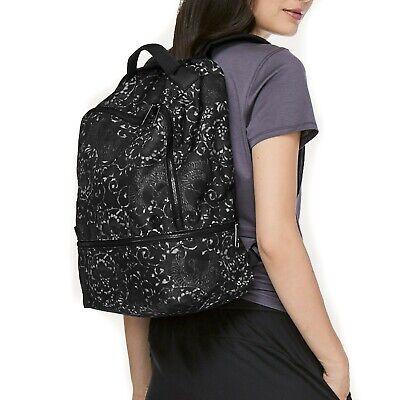 Lululemon City Adventurer Backpack 17L Motif Grey Black Floral NWT