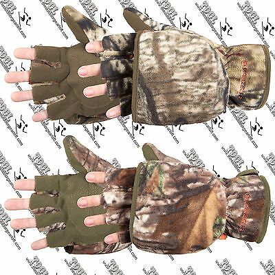 MANZELLA WOMENS H012W BOWHUNTER CONVERTIBLE MITTEN HALF FINGER ARCHERY GLOVE