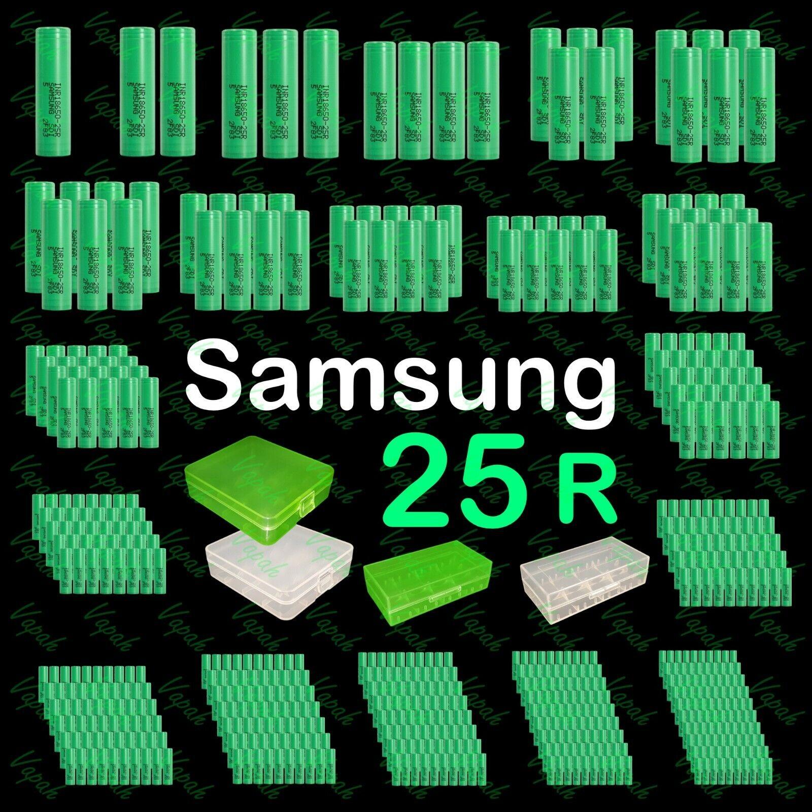 Samsung INR 18650 25R 2500mAh 20Amp Flat Top Rechargeable Ba