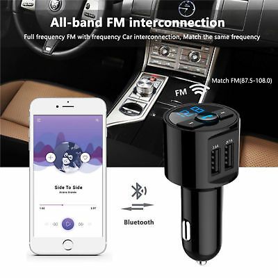 KFZ FM Transmitter MP3 Player Bluetooth Auto Freisprechanlage Car USB SD AUX DE