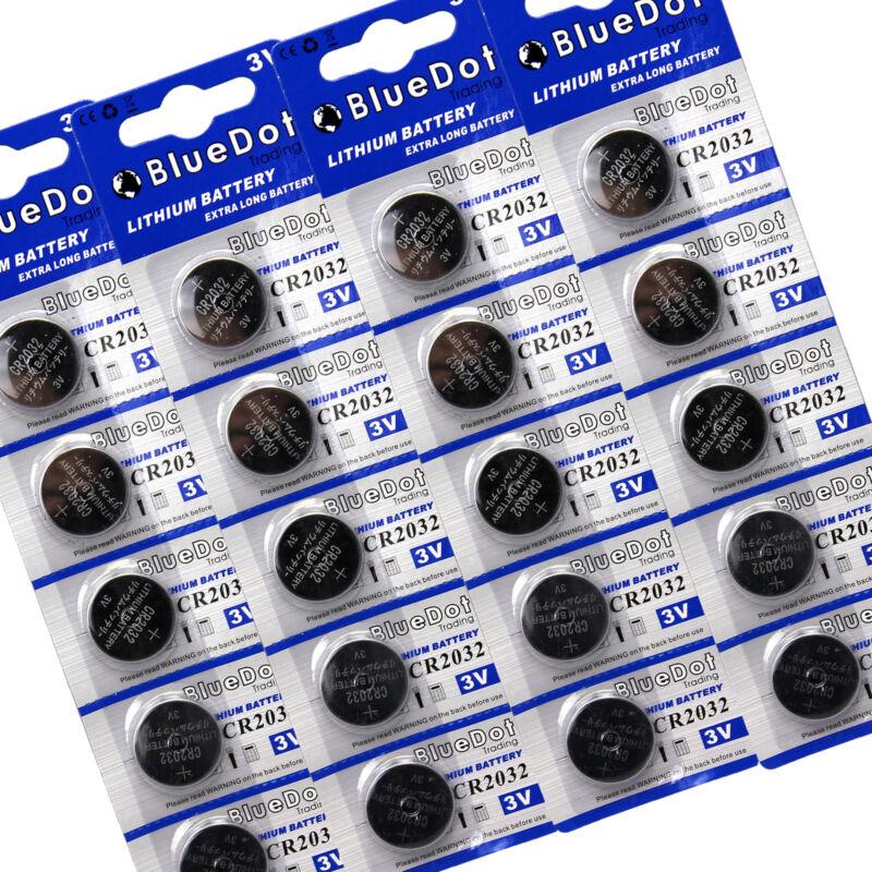 20 × CR2032 IN BULK DL2032 ECR2032 ECR2032 LM2032 2032 KCR2032 Lithium Battery