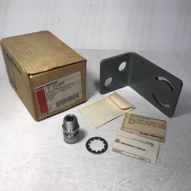 Cutler-Hammer E51KH4 Series A1 2 Hole Universal Mounting Bracket NEW