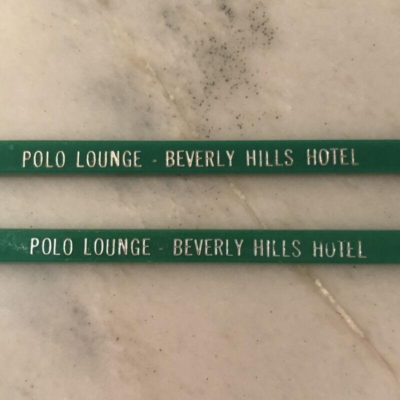 Beverly Hills Hotel, Polo Lounge Cocktail Swizzle Sticks (2 units)