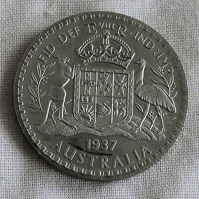 AUSTRALIA 1937 EDWARD VIII NICKEL SILVER PROOF PATTERN FLORIN - mintage 18