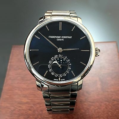 FREDERIQUE CONSTANT MOONPHASE MENS WATCH FC-705N4S6B2 NEW!!!! $3,795