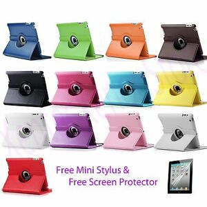 For-Apple-iPad-Mini-NEW-360-Degree-Rotating-PU-Leather-Case-Cover-w-Swivel-Stand