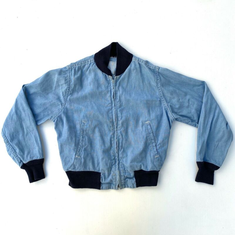 Vintage 1960s Kids Blue Jacket Work Wear