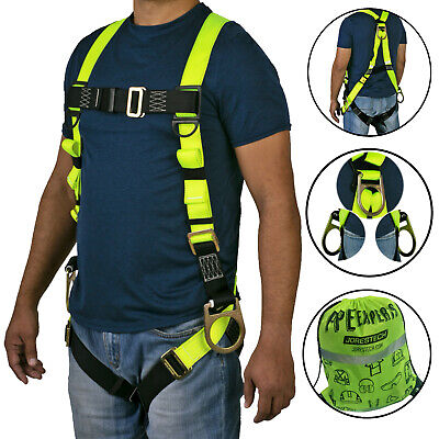 Safety Harness 3D Ring Fall Protection Full Body ANSI OSHA UL -
