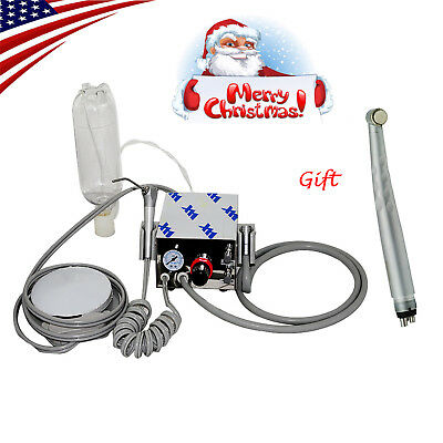 Usa Portable Dental Turbine Unit Compressor High Speed Handpiece Push 3w 4h