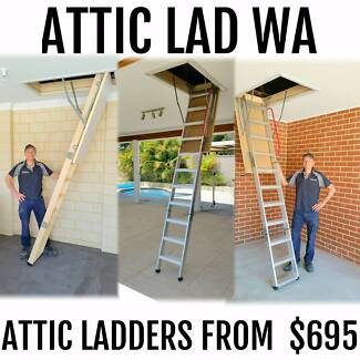 Attic / Loft Ladders from $695 supplied & installed
