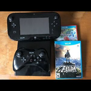 Wii U Black w/ pro controller and games