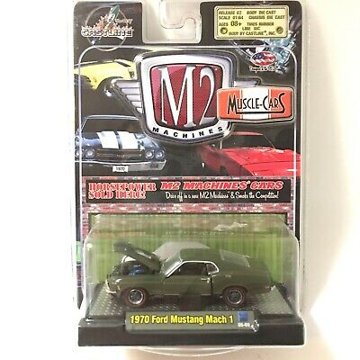 "M2 MACHINES Muscle Cars ""'70 Ford Mustang Mach 1"",Green, 1:64 Die Cast Car,"