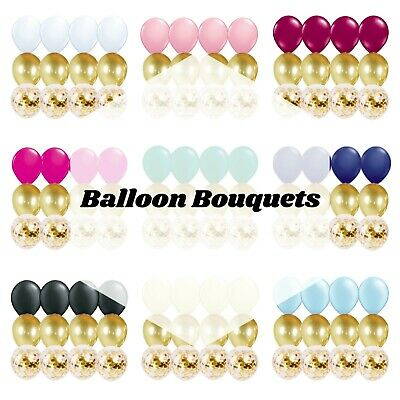 12 PC Balloon Bouquet Party Kit with Confetti - Baby, Birthday, Wedding Balloon](Balloons With Confetti)