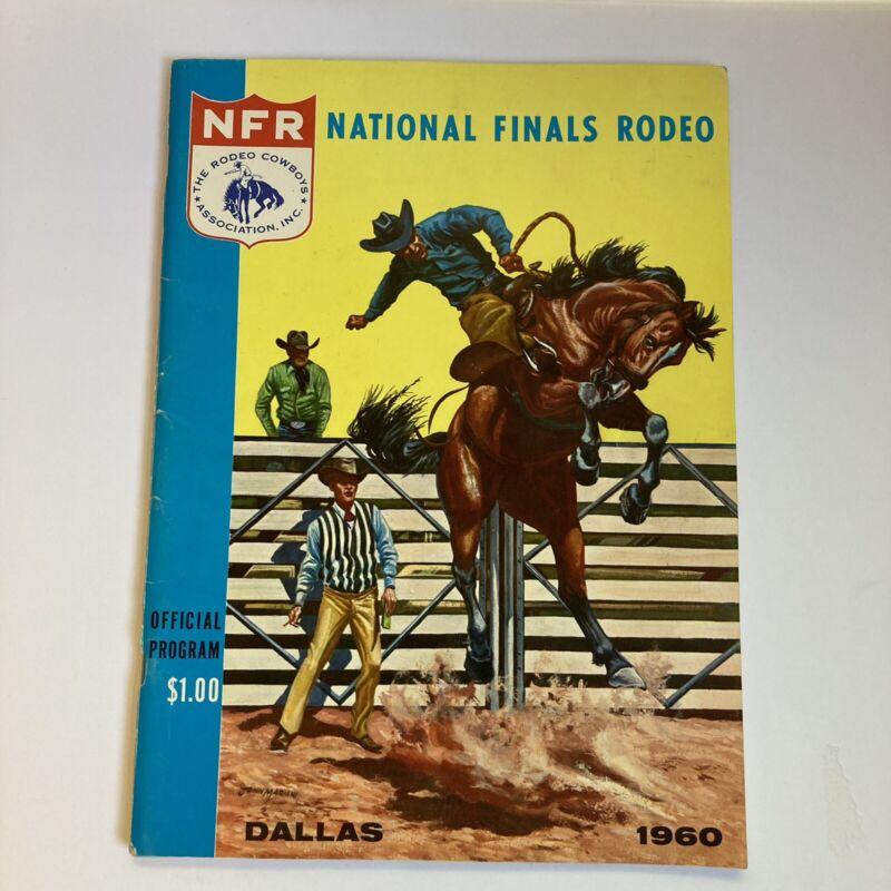 1960 NFR National Finals Rodeo Dallas Program + Ticket Stub + Go Round Sheet