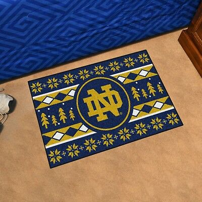 Notre Dame Starter Rug - Notre Dame Fighting Irish Holiday Sweater Design 19