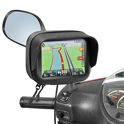 "SYM Allo Mio Symply Orbit Mirror Mount Waterproof Bag GPS Navi 5"" TomTom Garmin"