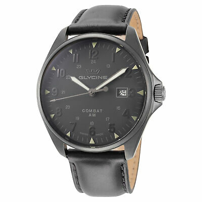 Glycine GL0297 Combat 6 Vintage Automatic 43mm Gunmetal PVD Watch