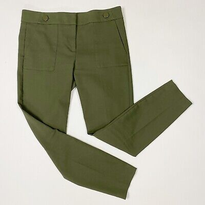 Ann Taylor LOFT Marisa Olive Button Cropped Skinny Pants - Size 8