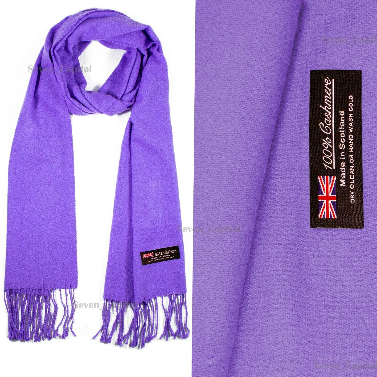 Mens Womens Winter Warm SCOTLAND Made 100% CASHMERE Scarf Scarves Plaid Wool 46. Plain: Lavender