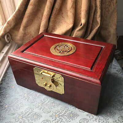 Green Wooden Coffin Gift Box lined with Vintage Red Velvet