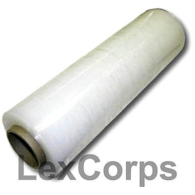 "Stretch Wrap 1 Roll 18"" X 1500 Feet 80 Gauge Move Pallet Luggage Plastic Shrink"