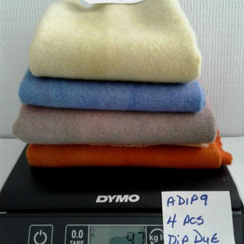 ADIP9 DIP DYE 4 PCS 9.5 OZS DORR 100 % WOOL aprx 3/4 YARD - RUG HOOKING APPLIQUE