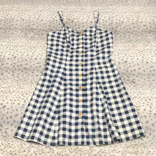 Guess Jeans Summer Dress 1990s Era Size 9 Gingham Spaghetti