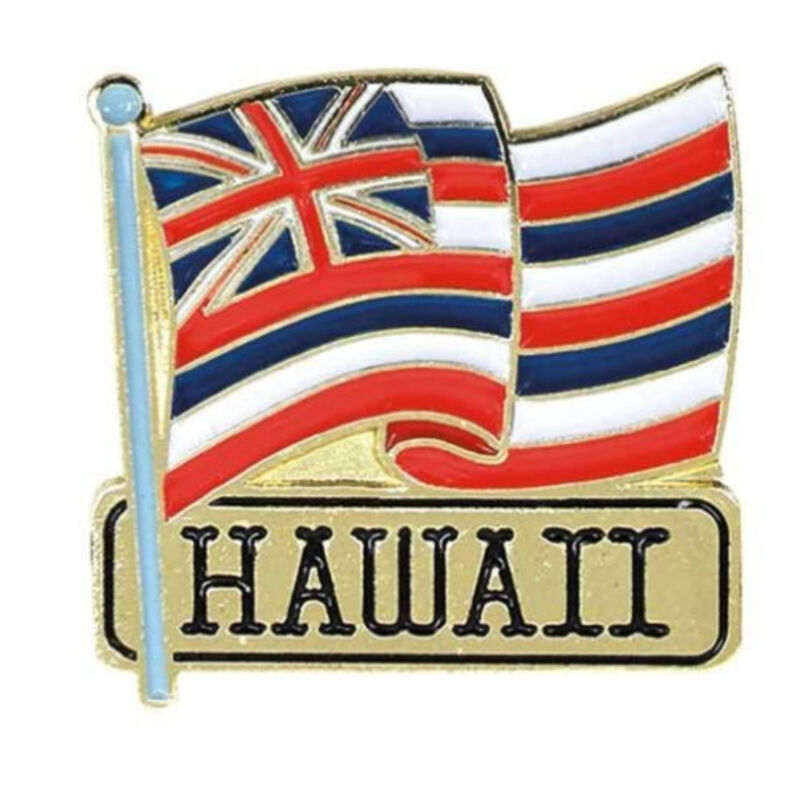 Islander Hawaiian Lapel or Hat Pin State Flag Red, White