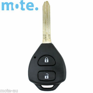 Toyota 2 Button Remote Key Shell Rav4 Corolla Camry Prado Echo Hilux Yaris