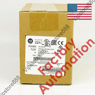 20182019 Us Allen-bradley Powerflex 4 1.5 Kw 2 Hp Ac Drive 22a-b8p0n104 Good
