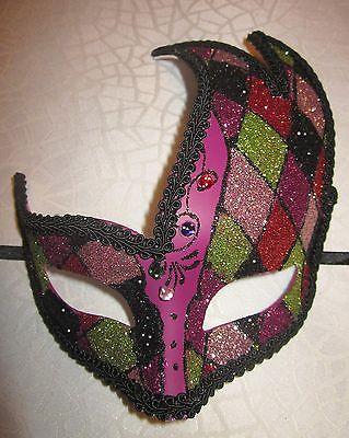 TRAUMHAFTE VENEZIANISCHE MASKE KARNEVAL HARLEKIN KOSTÜM CLOWN Domino (Venezianische Maske Kostüm)