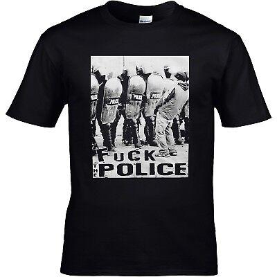 Fuck the Police Aufnäher // Bügelbild 7.5 x 7.5 cm Qoute schwarz