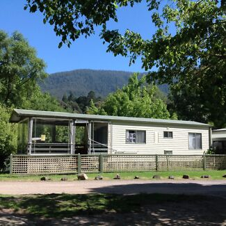 FOR SALE: Riverfront Cabin in Warburton Holiday Park, Victoria