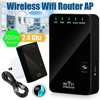 300Mbps Wifi Repeater Extender Signal Range Booster 802.11 Wireless-N AP Router