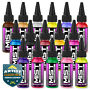 Nail Art Airbrush Paint Polish - 16 Color Set 4 - 1 oz