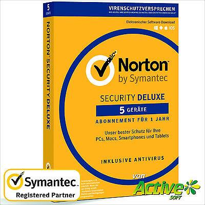 NORTON Security 2018 5 Geräte |PC,Mac,Android,iOS| Internet Security DE-Lizenz