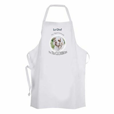 CLUMBER SPANIEL DOG NEW DESIGN APRON KITCHEN SANDRA COEN ARTIST PRINT