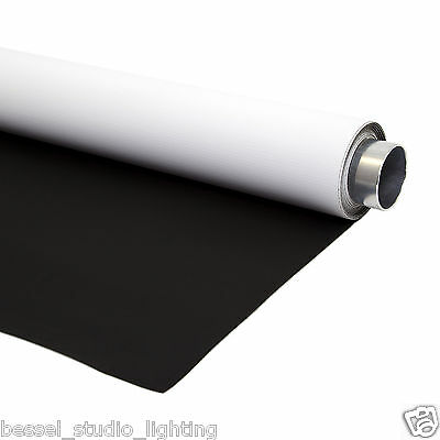 Bessel 2m x 3m Double Sided Black & White Photographic Backdrop Background Vinyl