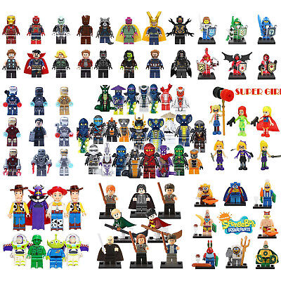 Avengers DC Ninjago Dinosaur Star Wars Mini Figures Building Blocks Fit Lego Toy