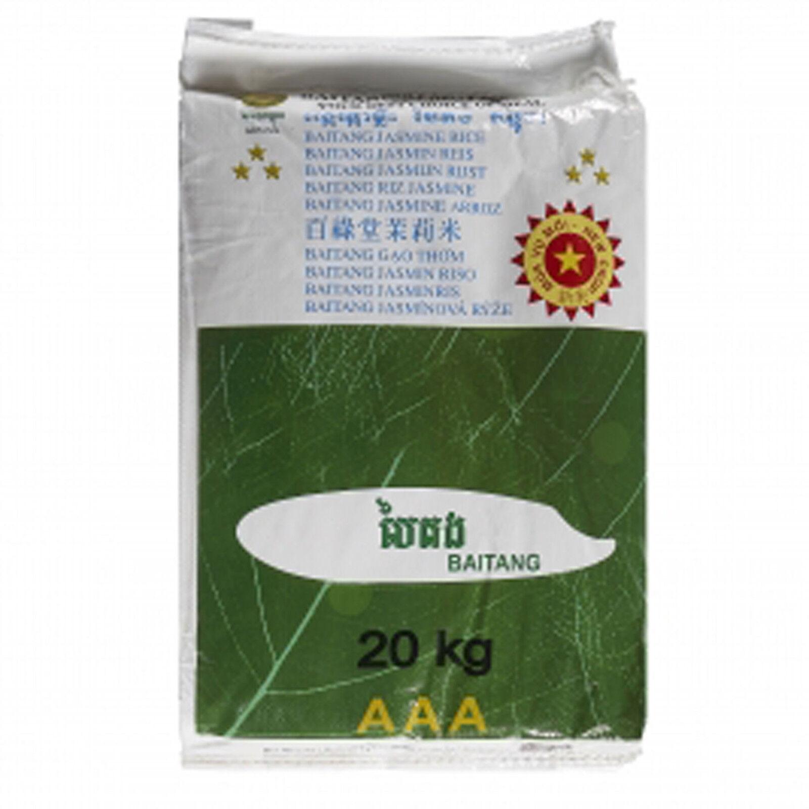 Duftreis 20kg Baitang Jasminreis Premium Qualität AAA Reis Jasmin Reis New Corp