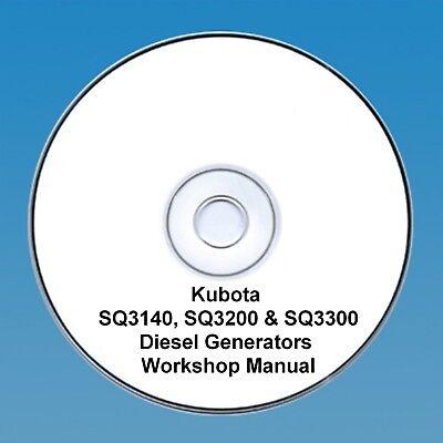 Kubota SQ-3140, SQ-3200 & SQ-3300 Series Diesel Generators Workshop manual